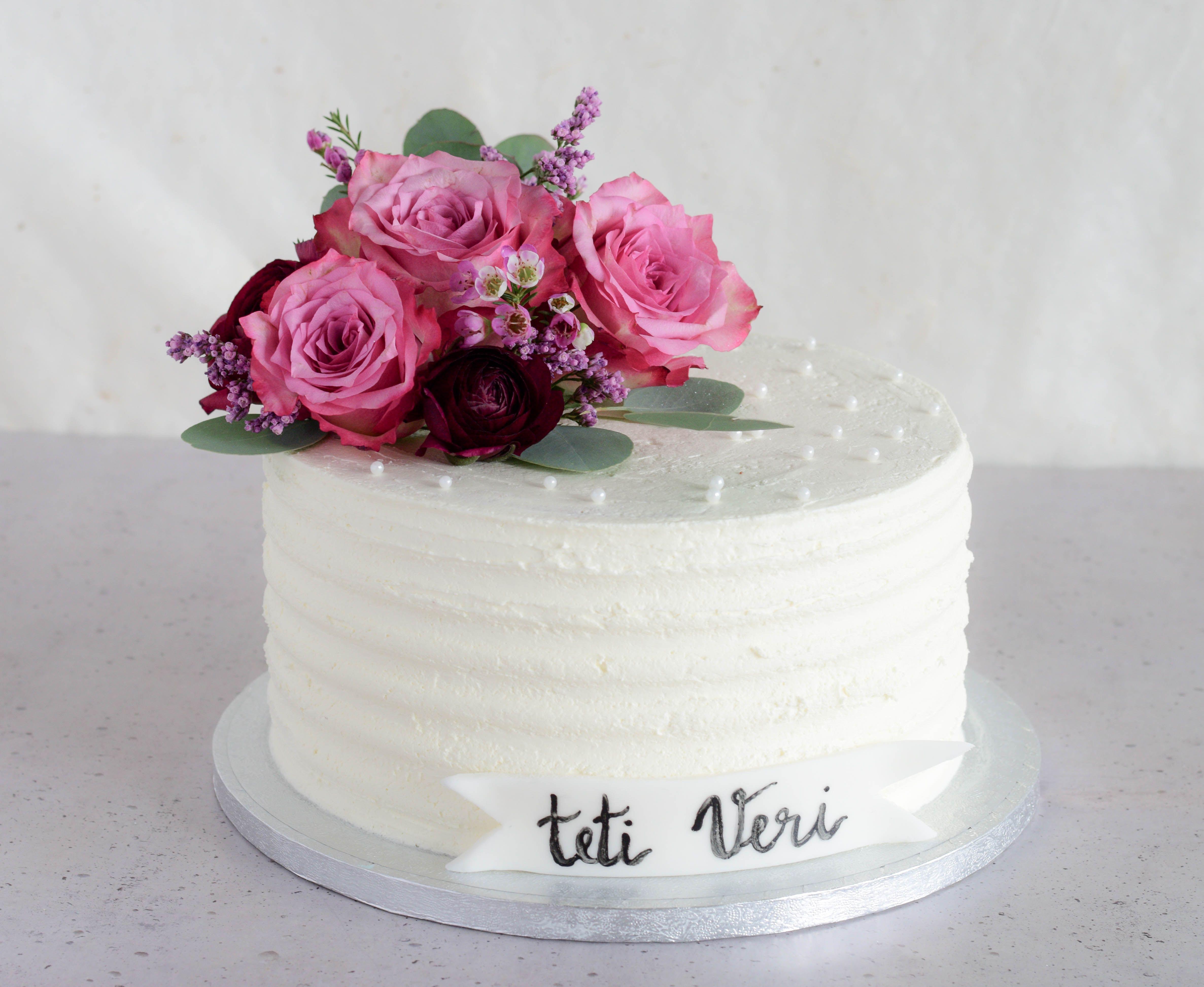 Pleasing Dobrodosli With Images Elegant Birthday Cakes Fresh Flower Funny Birthday Cards Online Bapapcheapnameinfo
