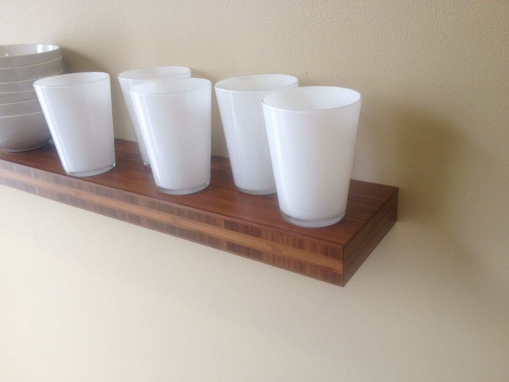 various colors 98abd 807aa Bamboo Floating Shelves - Chocolate Bamboo | Custom Floating ...