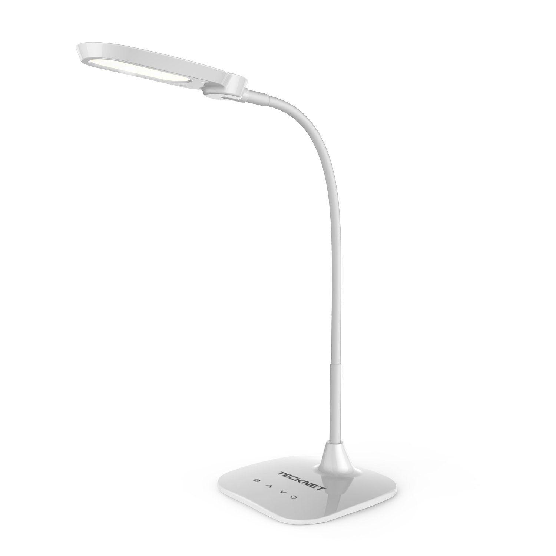 Lampe De Bureau Led Tecknet De 10w Avec Touch Control De 4 Niveaux Peut Etre Obscurci 3 Modes D Eclairage Bras Fle Lampe De Bureau Led Lampe De Bureau Lamp