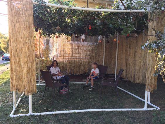 PVC Sukkah (DIY) & UPDATED! Simple DIY Sukkah - Build Your Own From PVC Pipe - Free ...