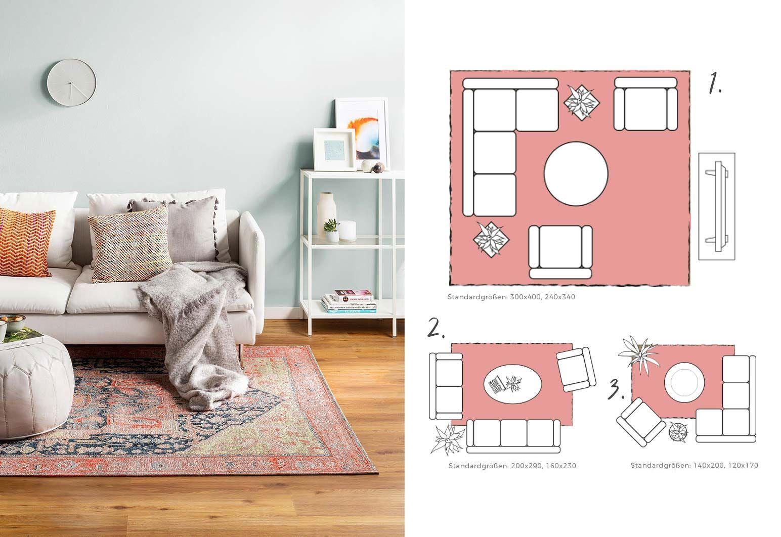 Richtige Teppichgröße bestimmen   Teppiche im wohnzimmer ...