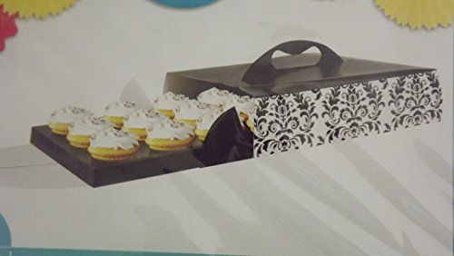 Cupcake Carrier Box Keeper Decorative Cake Box Hold 12 Cupcakes Creative Converting http://www.amazon.com/dp/B00LPUW7P0/ref=cm_sw_r_pi_dp_1XK0tb1N1P5YNCET
