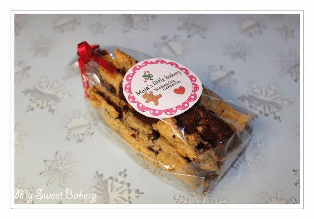 Geschenk 1. Advent * Maja von My Little Bakery an Nadine von My sweet Bakery * Weihnachts-Cantuccini