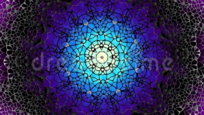 Arabic geometric pattern Transforming round mandala pattern Seamless loop foot