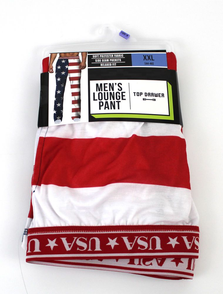 51cd358cabf Top Drawer American Flag Men s Relaxed Fit Sleep Lounge Pants Sz 2XL  (44-46) USA  fashion  clothing  shoes  accessories  mensclothing   sleepwearrobes (ebay ...
