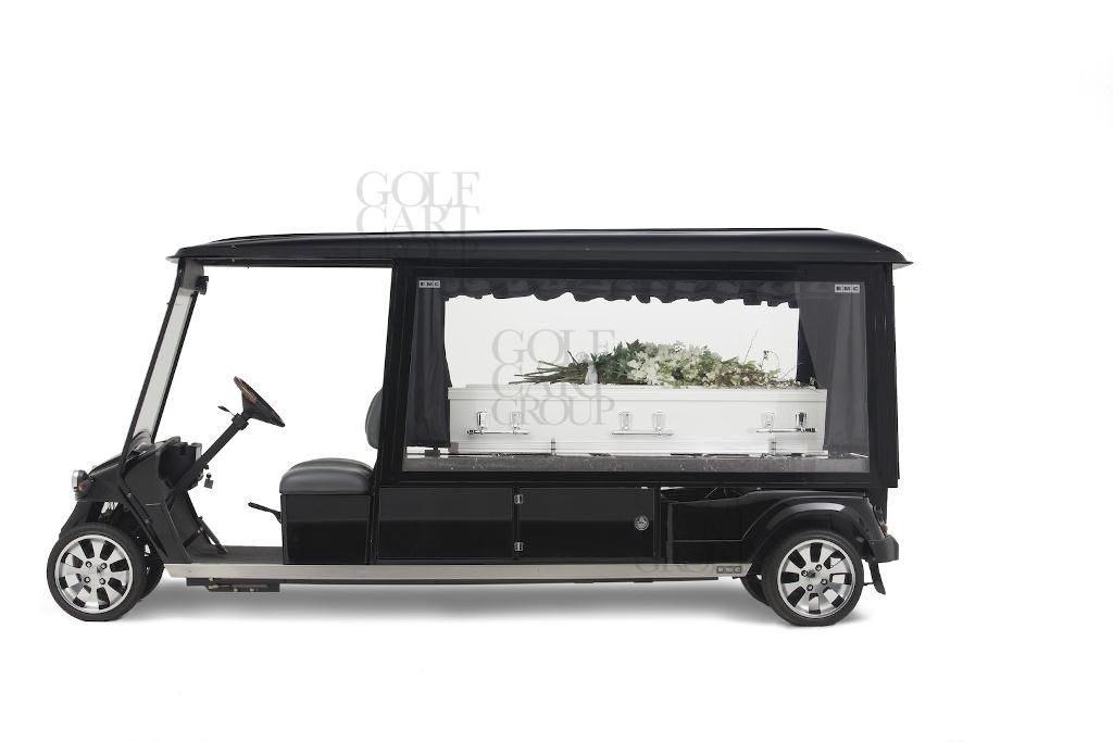 emc electric golf cart based hearse - new release