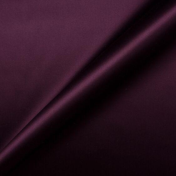 Dark Aubergine Cotton Backed Duchess Satin
