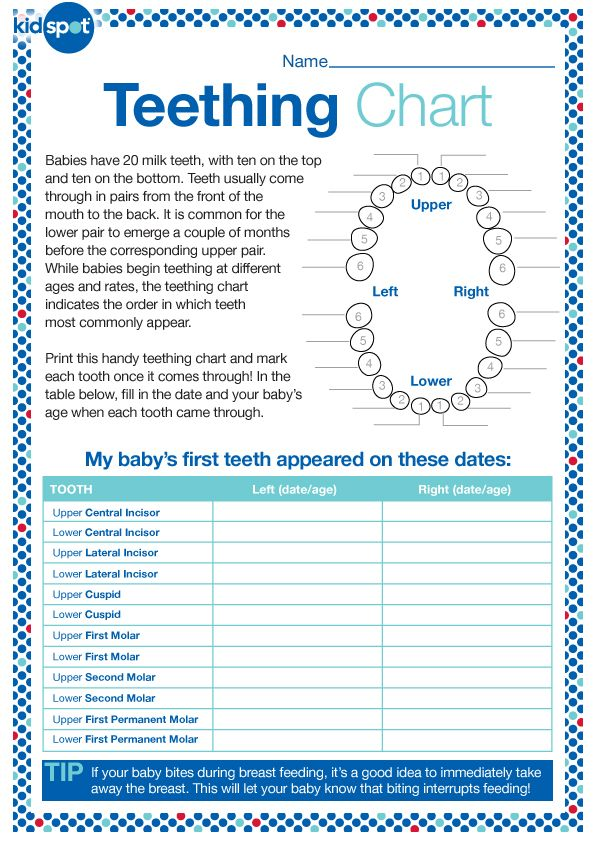 Teething Chart. Monitor When Baby'S Teeth Appear. . . Would Be