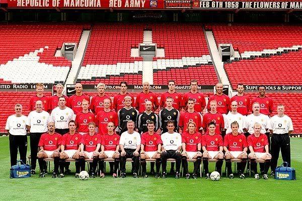 2002 03 Manchester Unites Squad Manchester United Champions Manchester United Manchester United Team