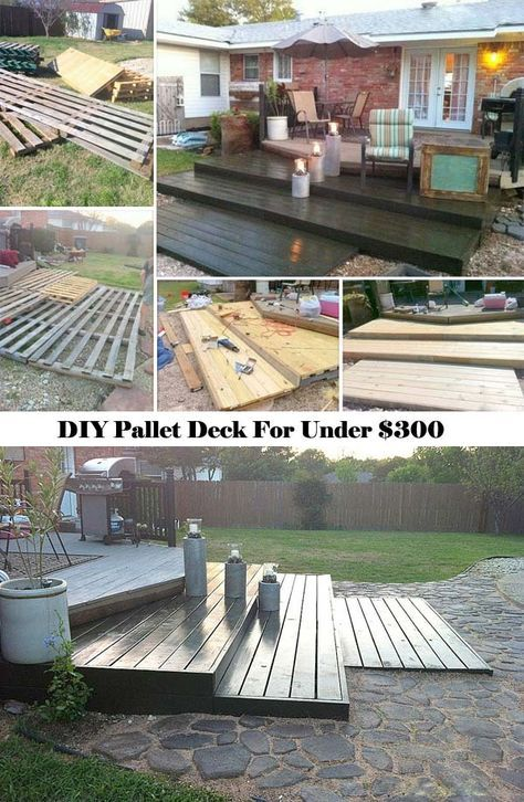Enjoy Cozy Outdoor Life You Can Build A Pallet Deck Just For Under 300with Tutorial LinkTop 19 Simple And Low Budget Ideas Building Floating