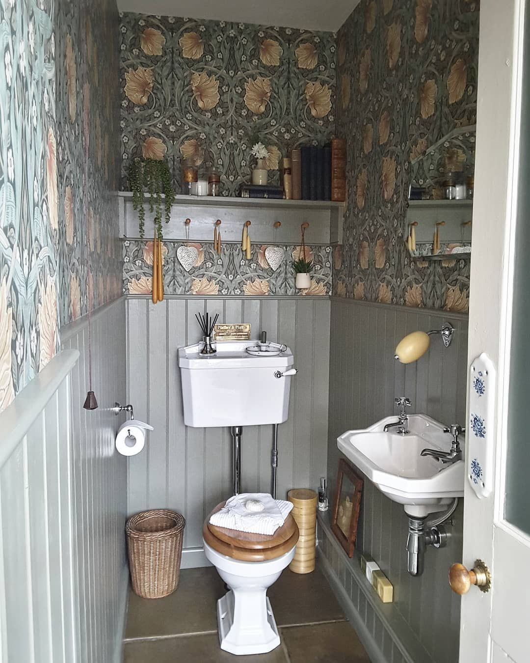 Rebecca On Instagram So This Morning I Am Sharing My Downstairs Loo Basically Because It S The Only Tidy Ro In 2020 Downstairs Loo Small Downstairs Toilet Tidy Room