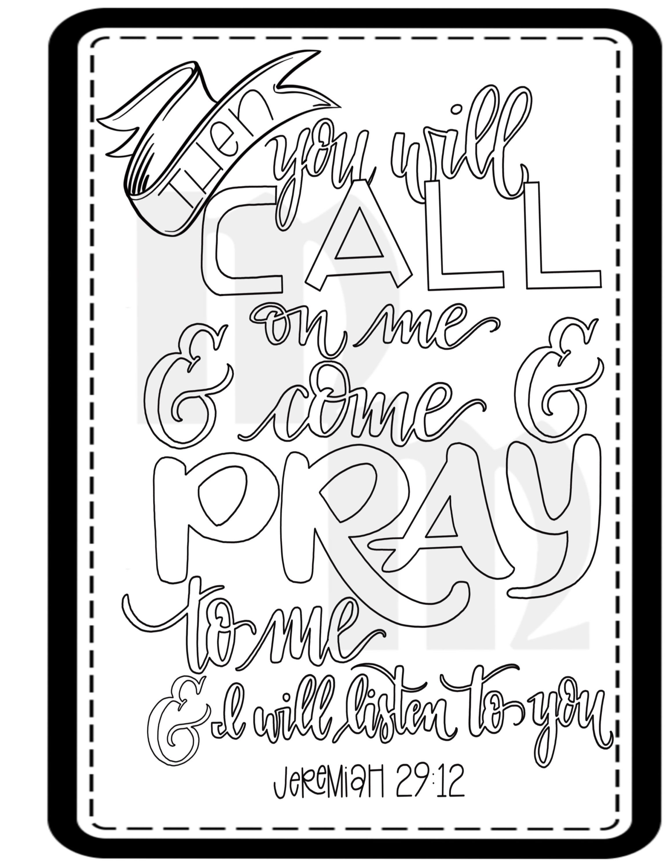 Call On Me Bible Coloring Page Etsy Bible Coloring Pages Christian Coloring Book Coloring Pages