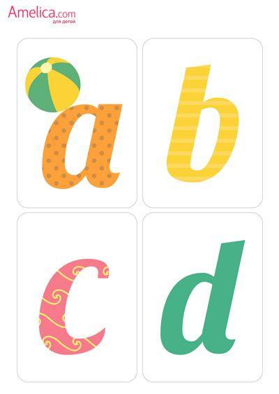 английский алфавит карточки английские буквы для детей ...