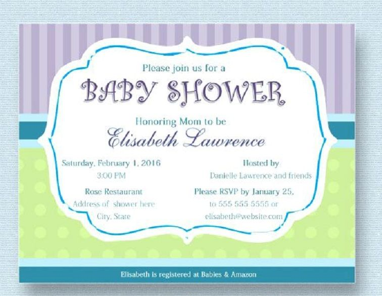 Baby Shower Invitation Cards Samples Party Invitation Card