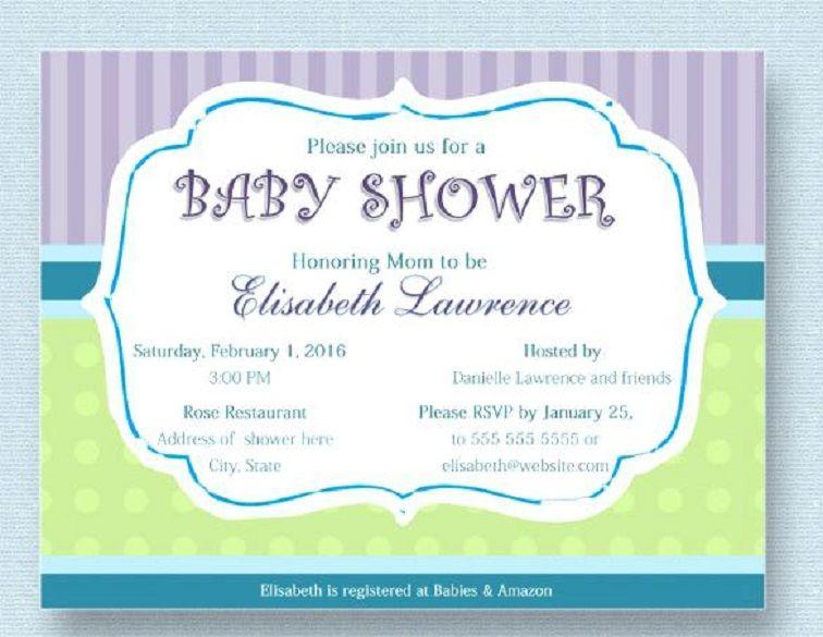 Sample Baby Shower Invitation Wpa Wpart Co