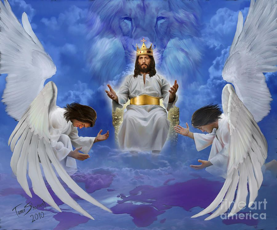 Jesus Enthroned Jesus Painting Pictures Of Christ Jesus Pictures