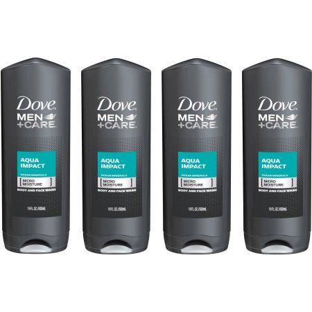 Dove Men Care Aqua Impact Body And Face Wash 18 Oz Pack Of 4 Best Body Wash Dove Men Care Dove Men
