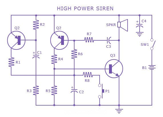 Powersirinecircuit Is A Loud Noise Making Device,are Used On - Wiring Diagram