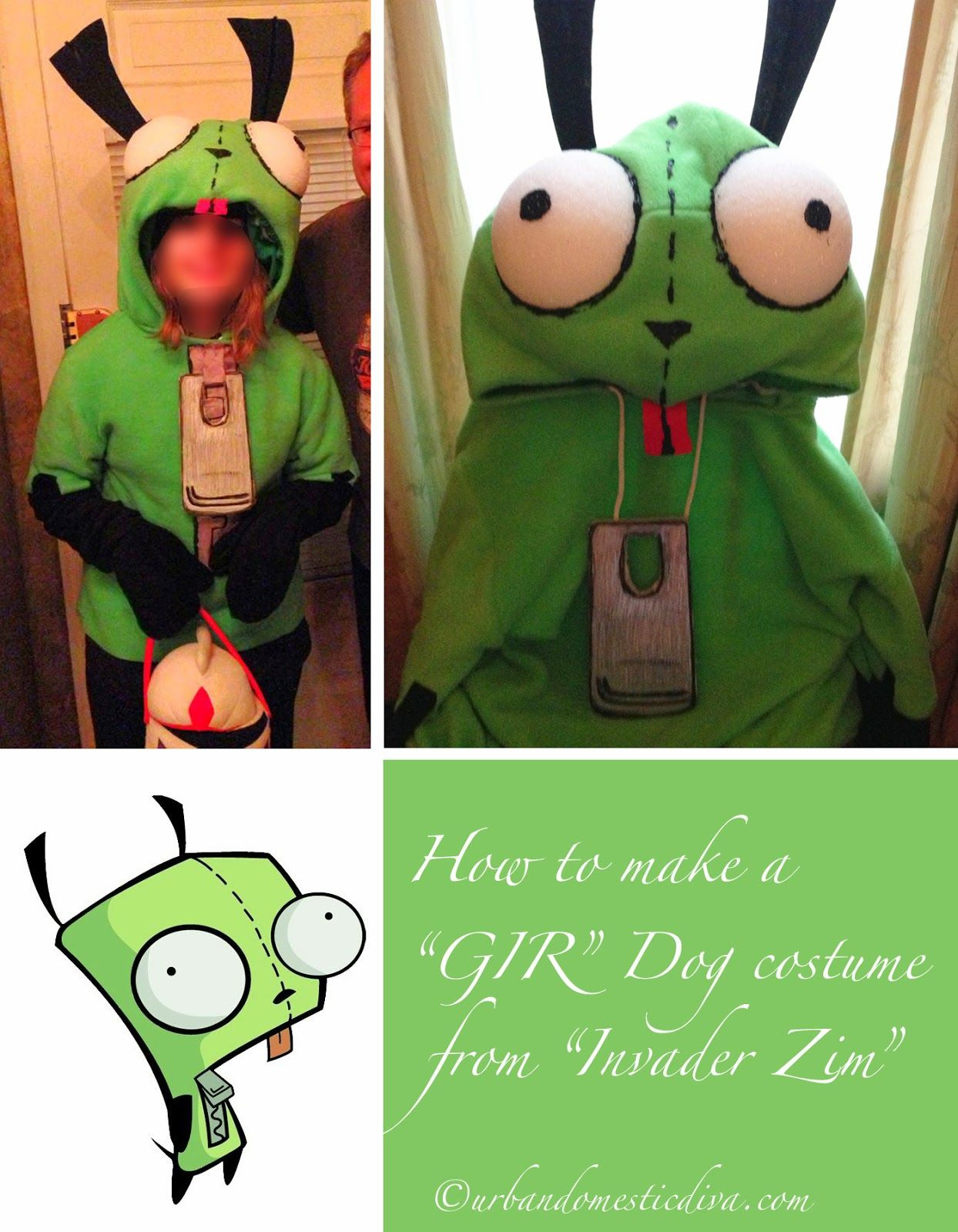 how to make a gir dog costume from the show invader zim by hand for halloween - Gir Halloween Costumes