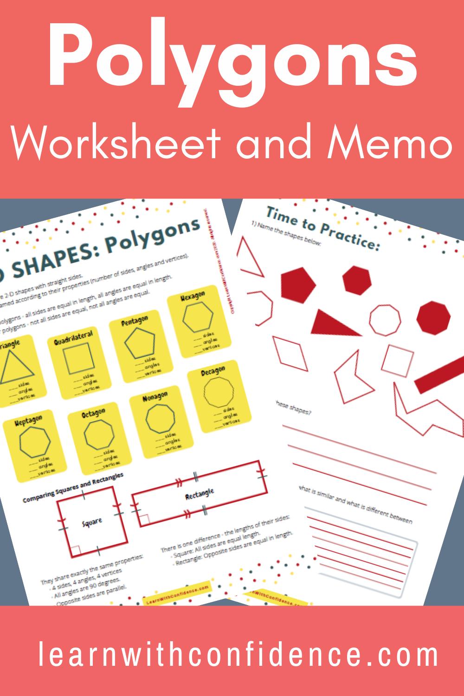 hight resolution of Polygons   2D Shapes   Worksheet   Grade 5 Maths in 2020   Shapes worksheets