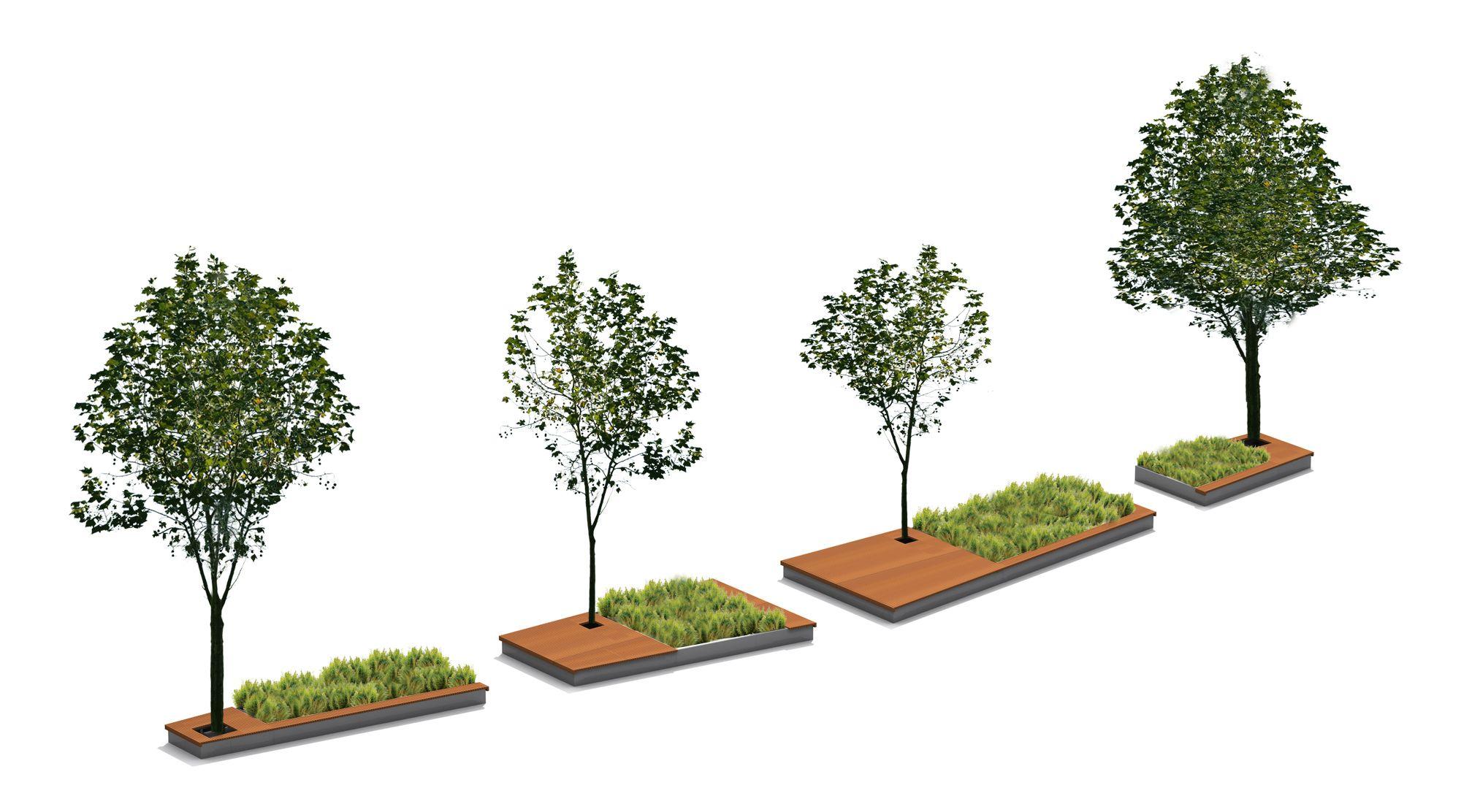 Streetlife Podium Isles Bento Tree Boxes