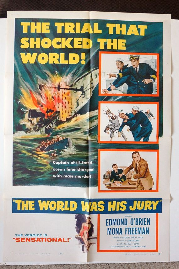 Movie Poster The World was His Jury by MoviePostersAndMore
