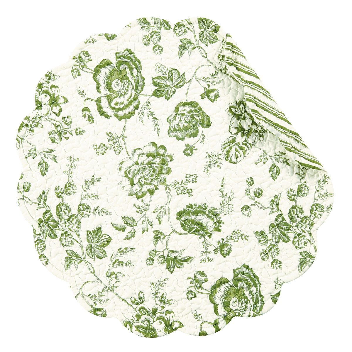 Devon Reversible Round Quilt Placemat Set Of 12 Placemats Placemat Sets Colorful Dishware