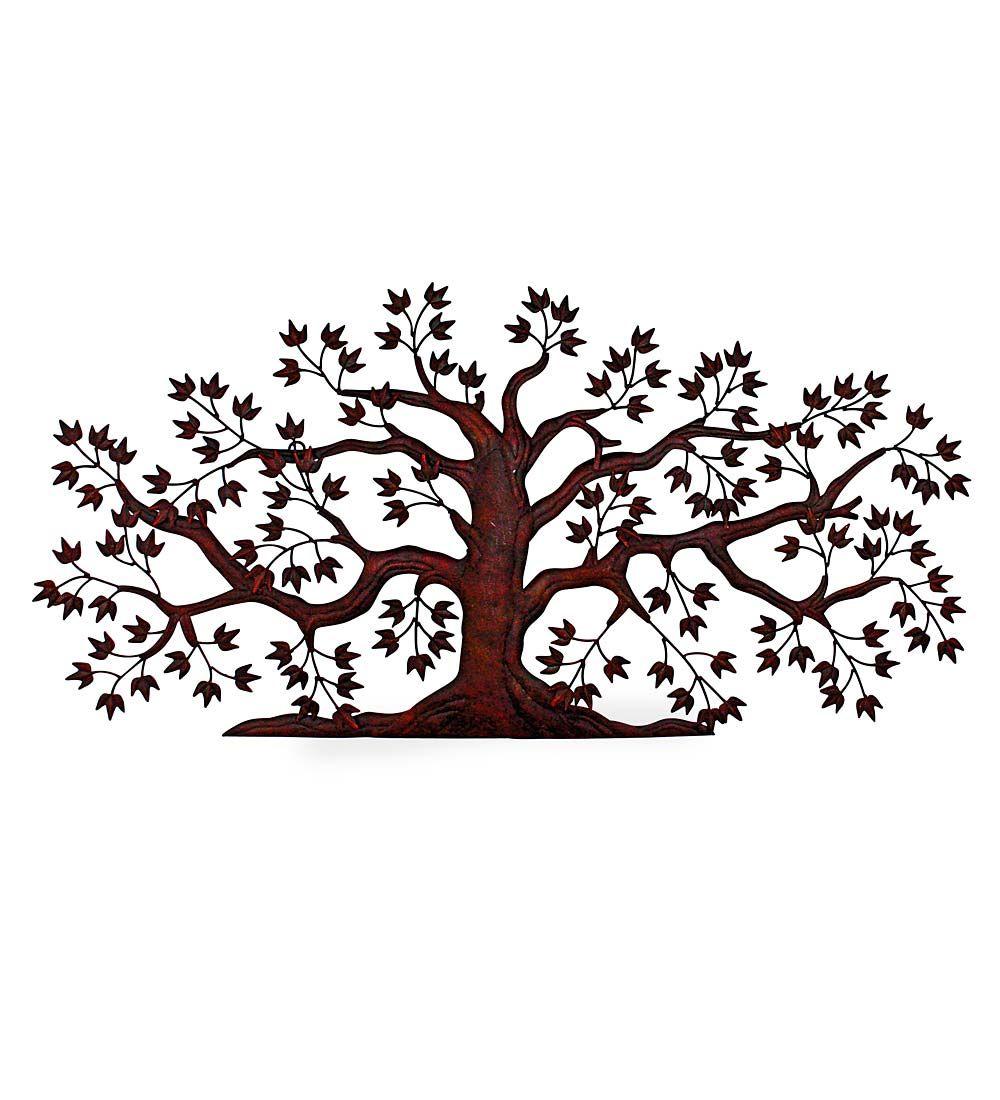 Textured Metal Tree Wall Art