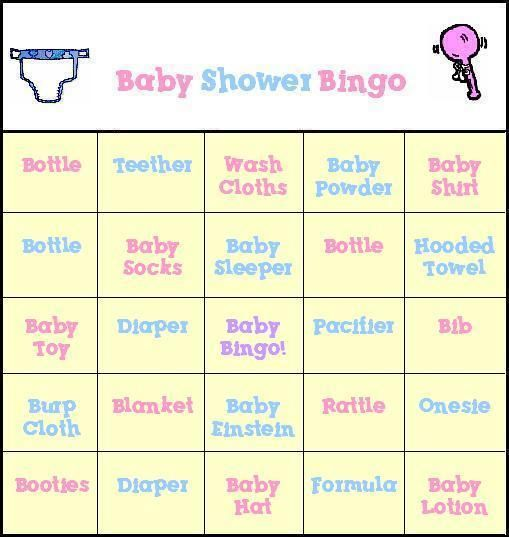 Baby Shower Bingo Free Printable Baby Shower Bingo Cards  Baby