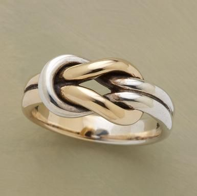 Gold & silver ring. I love the little loops.