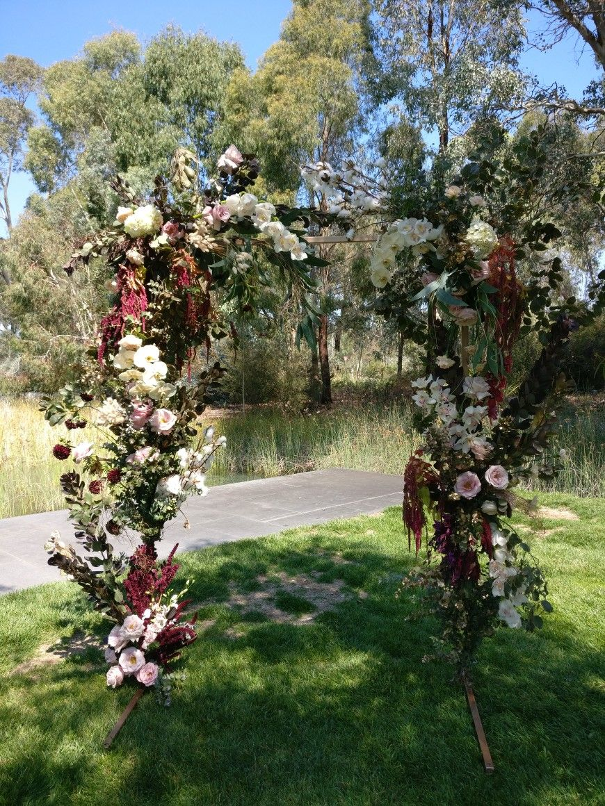 Lady Larissa Canberra Australia Wedding Arch With Roses Orchids
