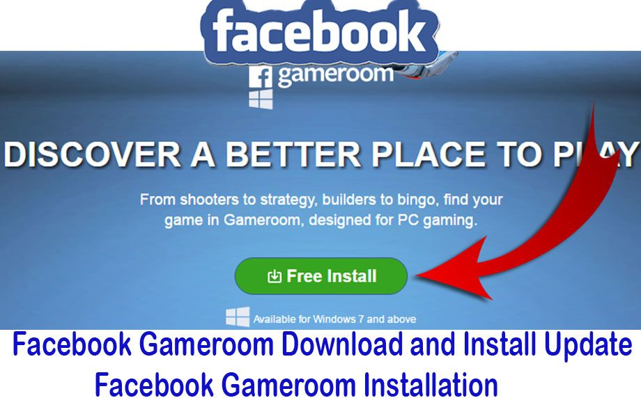 Facebook Gameroom Download and Install; One of the new