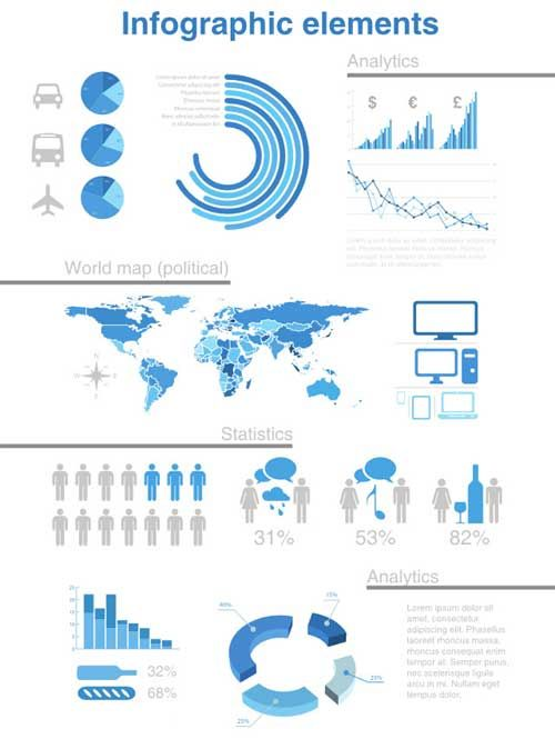 Free vector infographic templates blue vip pinterest free vector infographic templates blue gumiabroncs Choice Image