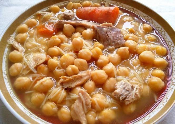 Cocido tradicional (olla express) Receta de AnabelBernal | Receta | Cocido  de garbanzos, Platos de carne, Recetas de comida