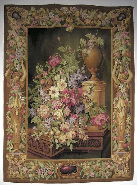 Hand Made French Aubusson Style Tapestry Tapestry Tapestry Weaving Needlepoint Rugs