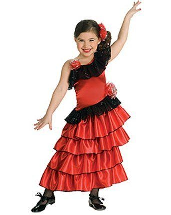 45ee1f5e4327 Clothing Spain for little girls | Girls Medium Spanish Princess Dress |  Traditional Mexican Clothing