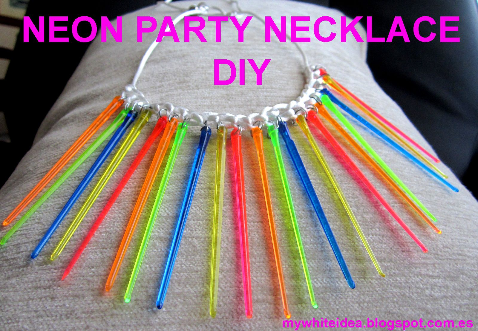 neon party ideas | NEON PARTY NECKLACE DIY