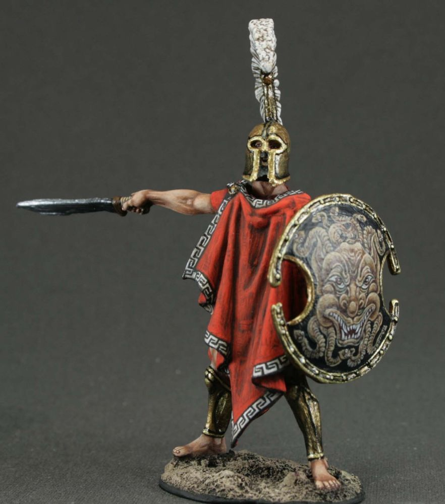 Thespian Hoplite In Thermopylae, 480. Tin Toy Soldier 54