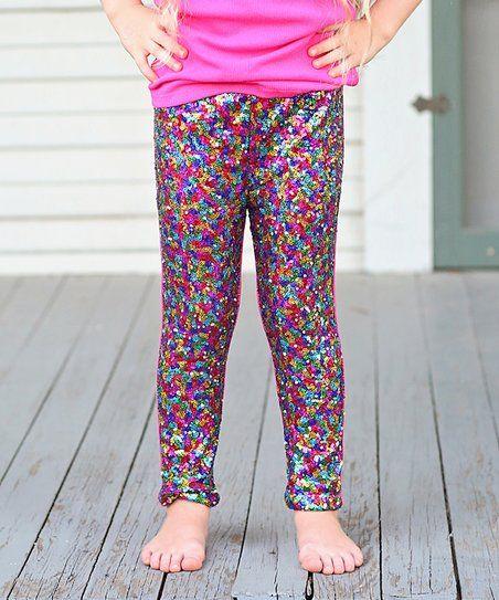 b8ec5901d Whitney Elizabeth Hot Pink   Rainbow Sequin Pants - Infant