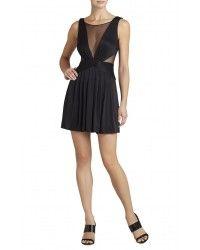 Bcbg Maxazria Lacee Sleeveless Ruched Bodice Dress URF69B52-001