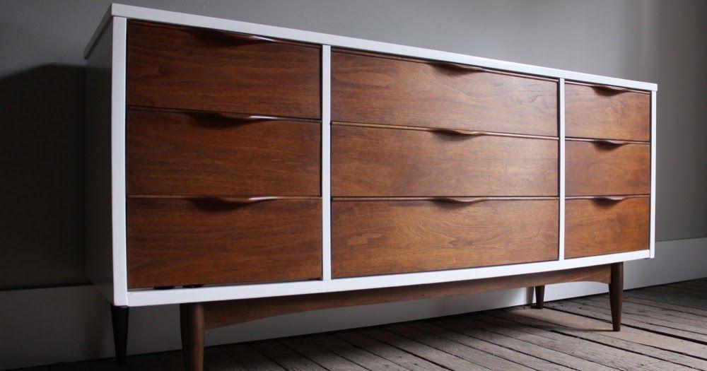 Best This Sleek White Wood Triple Dresser Was Manufactured In 400 x 300