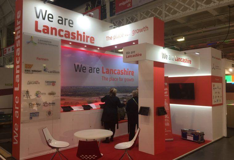 Custom Built Exhibition Stands Uk : Custom built exhibition stand for marketing lancashire at mipim uk
