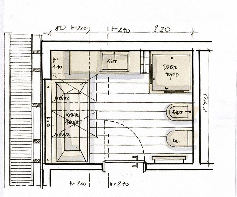 la salle de bains sous les combles villeroy boch salle de bain enfants pinterest les. Black Bedroom Furniture Sets. Home Design Ideas