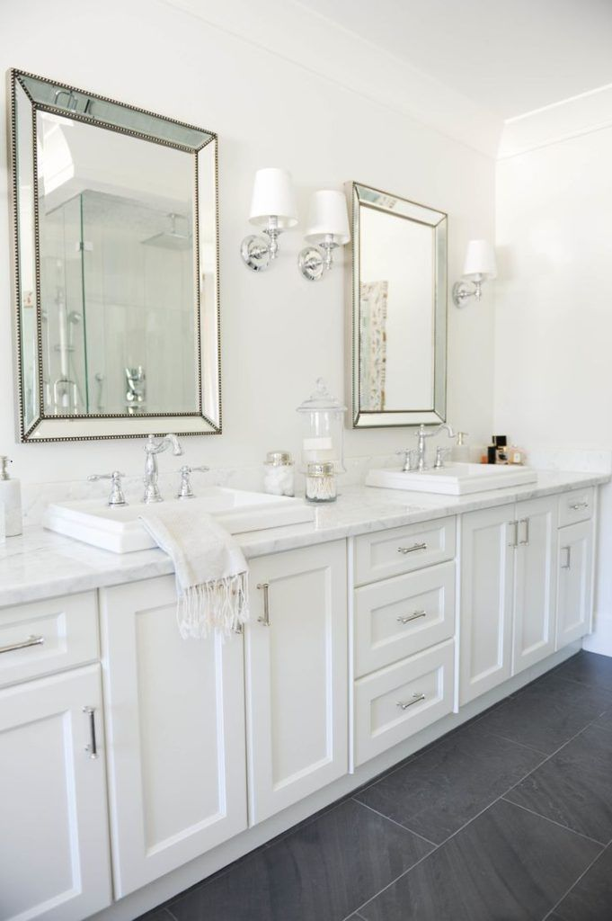 Tradewinds Bathroom Vanities Ideas With Modern Touch Long White Vanity Idea With Washstands Hampton Style Bathrooms Hampton Style Bathroom Bathroom Styling