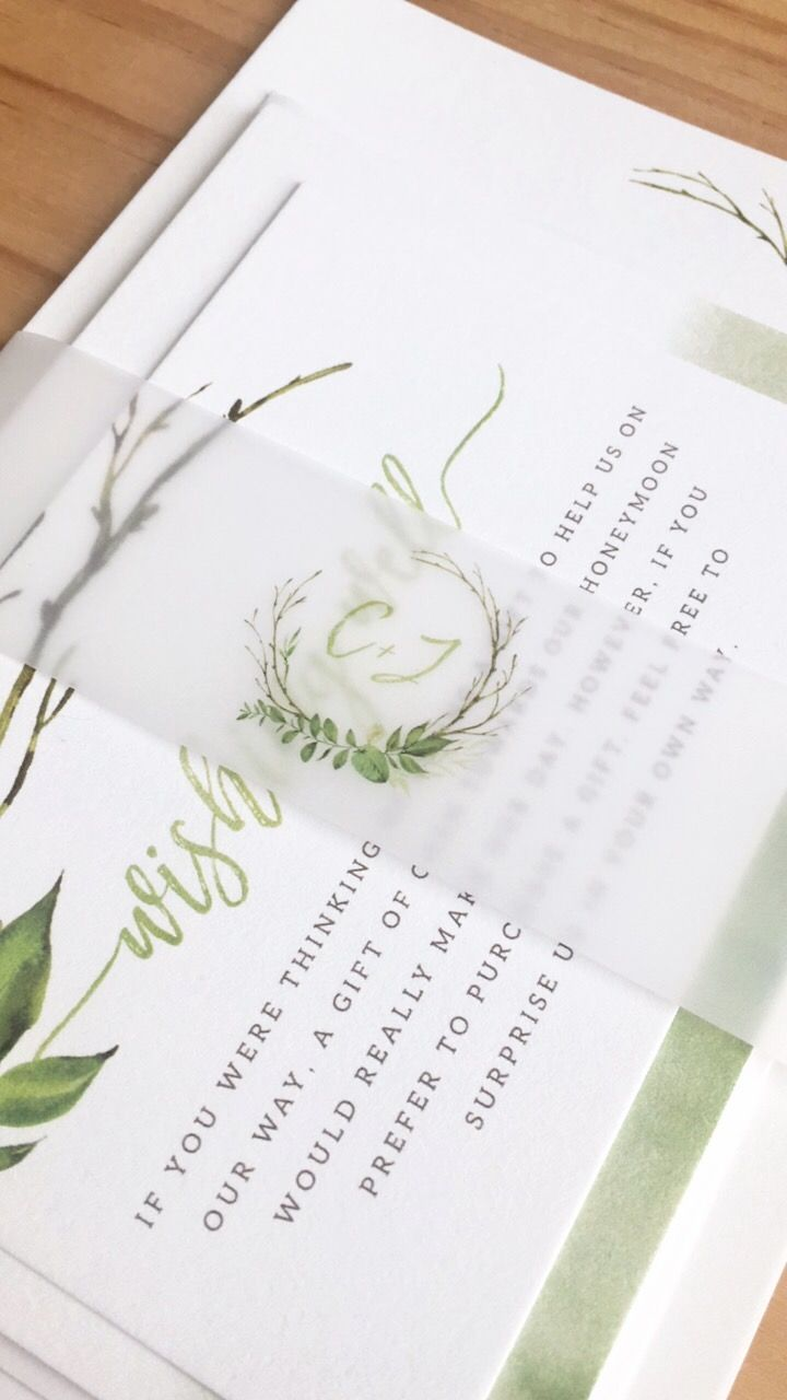 Greenery Wedding Invitations | Wreath Invitations | With Matching ...