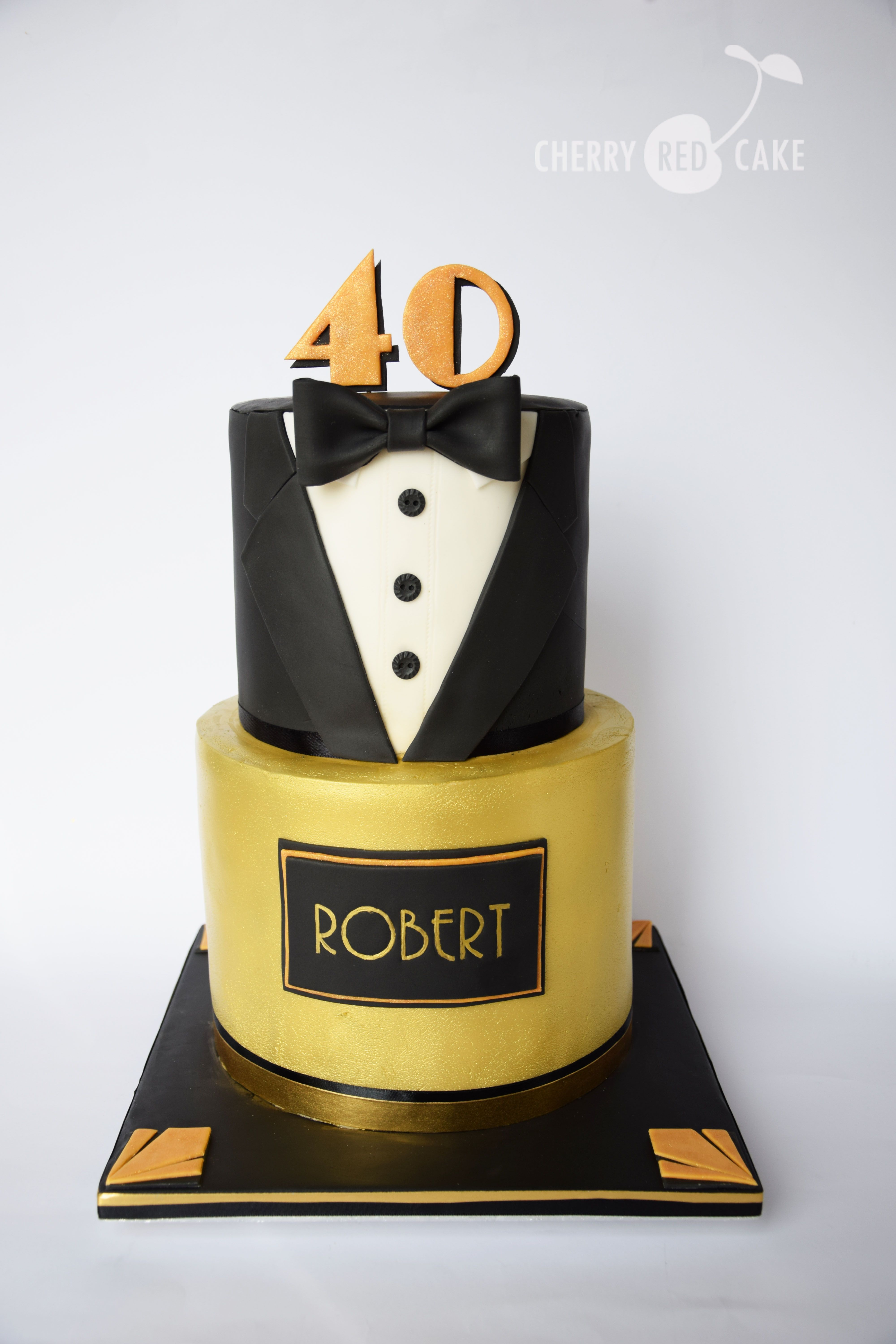 Astonishing Great Gatsby Cake With Images 40Th Birthday Cakes For Men Personalised Birthday Cards Fashionlily Jamesorg