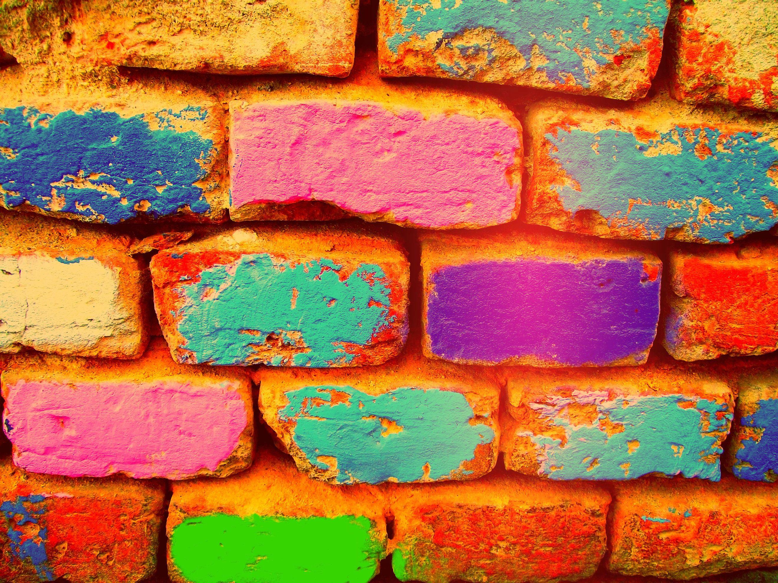 Painted bricks art design Brick art, Painted brick