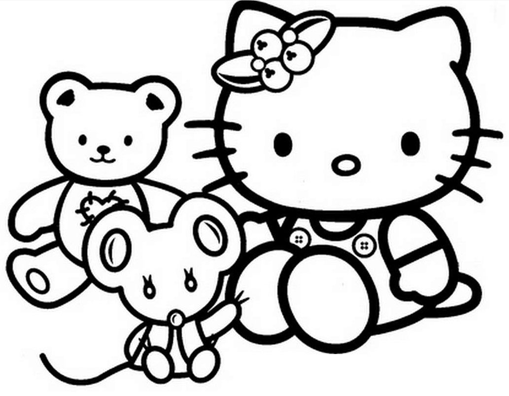 Hello kitty coloring book pages to print - Hello Kitty Toys Coloring Pages For Kids Printable Free