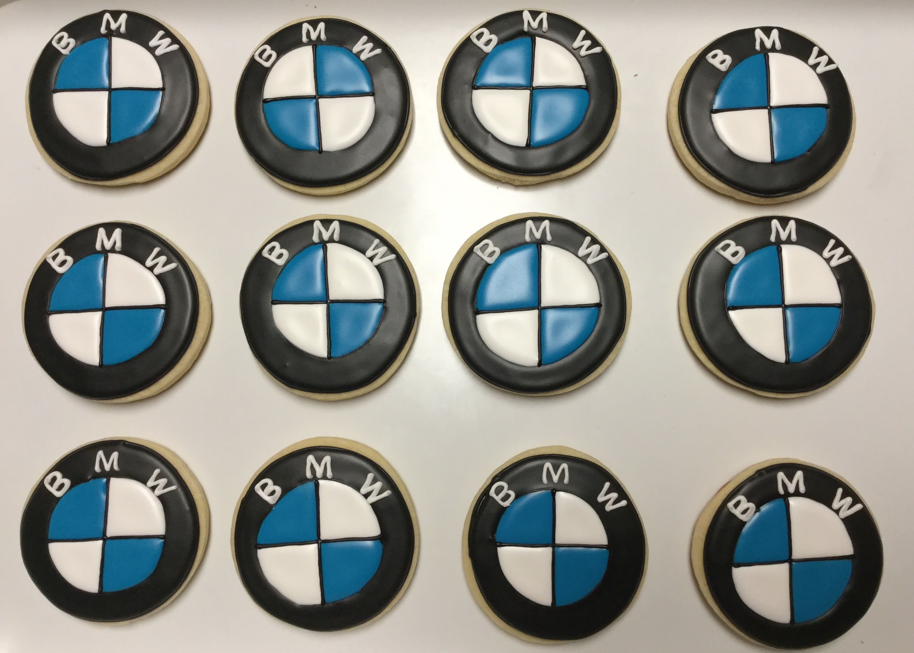 Bmw Logo Decorated Sugar Cookies By I Am The Cookie Lady Sugar