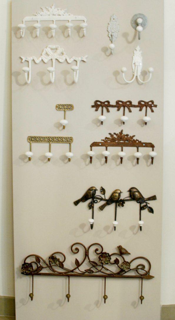 Perchitas de pared estilo vintage herreria artistica - Percheros pared vintage ...